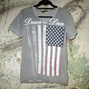 DSQuared2 American flag V Neck t-shirt - Large